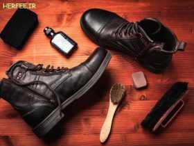 تمیز کردن کفش چرم با روشهای ساده و خانگی