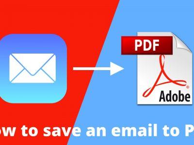چگونه در ویندوز 10 ایمیل را به فایل PDF تبدیل کنیم؟