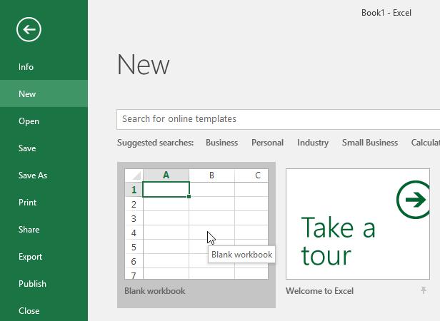 آموزش اکسل ( Excel ) - قسمت سوم - ایجاد و باز کردن کتاب کار